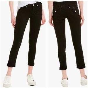 Hudson Black Bacara Straight Cropped Jeans